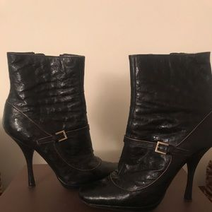 Louis Vuitton Ostrich Leather Booties